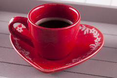 Red cup of coffee Royalty Free Stock Photo