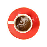 Red cup coffee isolated Stock Image