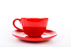 A red cup of coffee Royalty Free Stock Images