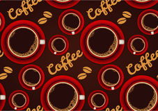 Red cup of coffee seamless background Royalty Free Stock Photography