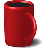 Red cup with coffee Royalty Free Stock Image