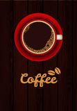 Red cup of coffee Royalty Free Stock Photos