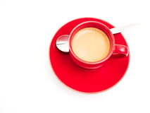 Red cup with espresso Stock Image