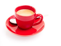 Red cup with espresso Stock Photo