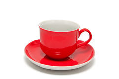 Red Cup For Coffee And Tea Stock Photos