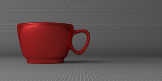 Red cup on gray Royalty Free Stock Photo