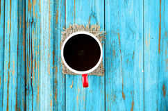 Red cup of hot coffee Stock Images