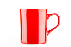 Red cup isolated on white Stock Photography