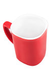 Red cup isolated on white background. White in red cup isolated on white background Royalty Free Stock Photos