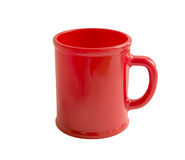 Red cup isolated on white with clipping path Stock Image