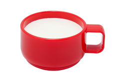 Red cup with kefir Royalty Free Stock Photography