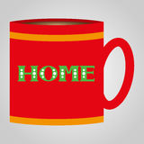 Red cup with sign Home Stock Photos