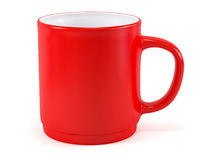 Red cup. Single red cup, isolated on white background Royalty Free Stock Image