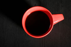 Red Cup of strong black coffee Stock Images