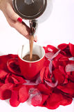 Hot chocolate love Royalty Free Stock Photography