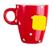 Red cup of tea Stock Image