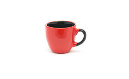 Red cup on white background Stock Photos