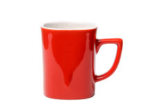 Red Cup on the white background isolated royalty free stock image