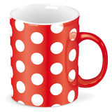 Red cup with white dots - vector file added Royalty Free Stock Images