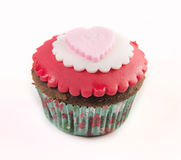 The red cupcake Stock Photos