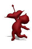 Red cupidon Stock Images
