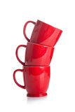 Red cups Stock Photo