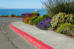 Free Red Curb With No Parking Sign Stock Photos - 31896993