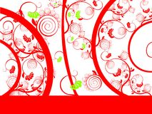 The red curl. Background with the red curl Royalty Free Stock Photo