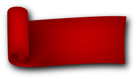 Red curled ribbon Royalty Free Stock Photos