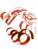 Red Curled Streamers Stock Photo