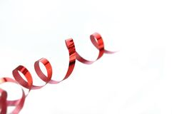 Red curling ribbon Stock Photo