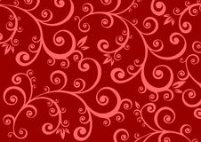 Red curls background Stock Images