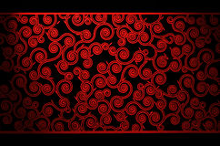 Red Curls Pattern Royalty Free Stock Images