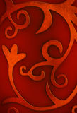 Red Curly background. Red Christmas background with floral and curly motives royalty free stock image