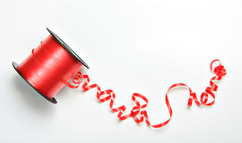Red curly ribbon Stock Photography