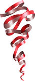 Red Curly Ribbon Scroll Stock Photo