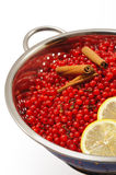 Red currant berries and ingredients for making jam Royalty Free Stock Photo