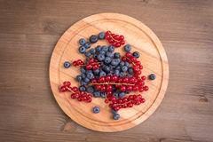 Red currant and blueberry Royalty Free Stock Photos