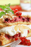 Red currant cake Royalty Free Stock Images