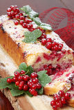Red currant cake Royalty Free Stock Photography