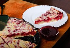 Red currant cake. On a roasting pan Stock Photography