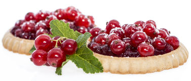 Red Currant Cupcake (Isolated) Stock Photos