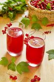 Red Currant Drink Stock Photos
