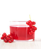 Red currant drink in glass Royalty Free Stock Photography