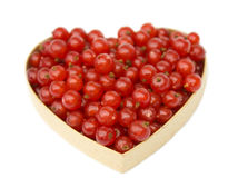 Red currant heart Royalty Free Stock Photos