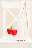 Red currant homemade lemonade Royalty Free Stock Photo