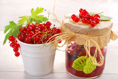 Red currant homemade preserve Royalty Free Stock Images