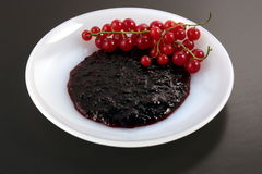 Red currant jam Royalty Free Stock Images