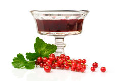 Red currant jam Royalty Free Stock Photo