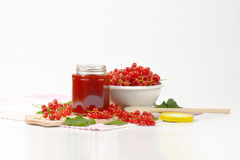 Red currant jelly Royalty Free Stock Photography